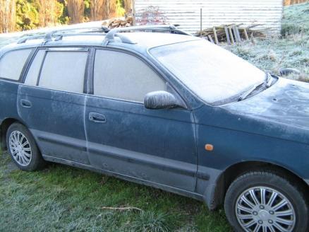 A frosty car...